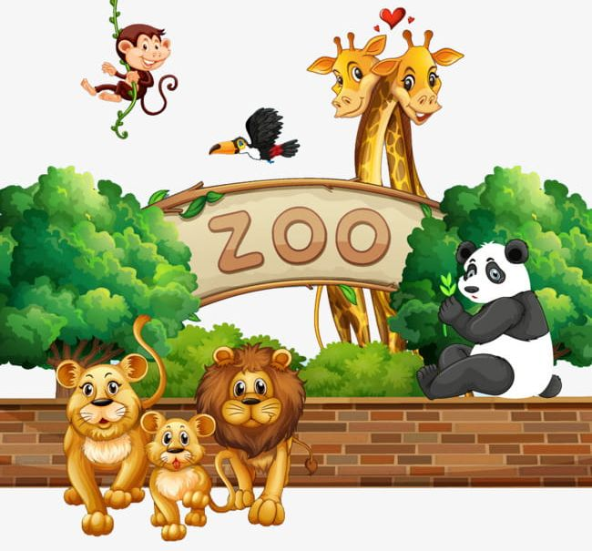 Small Zoo Animals PNG, Clipart, Animal, Animals Clipart.
