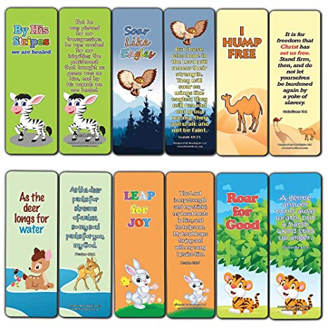 Encouraging Bible Verses Bookmarks for Kids (60.