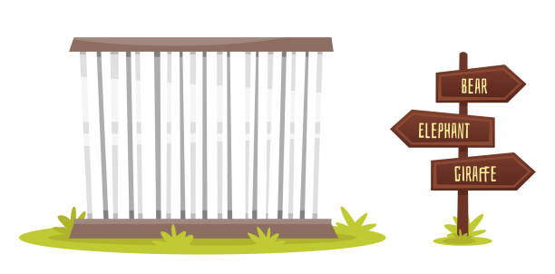 Best Zoo Cage Illustrations, Royalty.