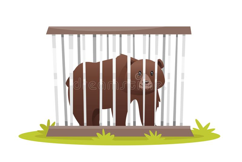 Zoo Cage Stock Illustrations.