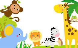 Zoo Border Stock Illustrations.