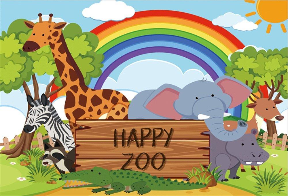 Amazon.com: LFEEY 10x8ft Cartoon Zoo Photo Backdrop Elephant.