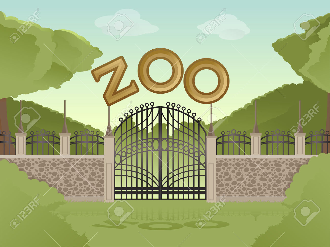 154 Zoo Gate Stock Vector Illustration And Royalty Free Zoo Gate.