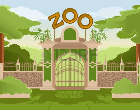 Zoo Clipart Background.