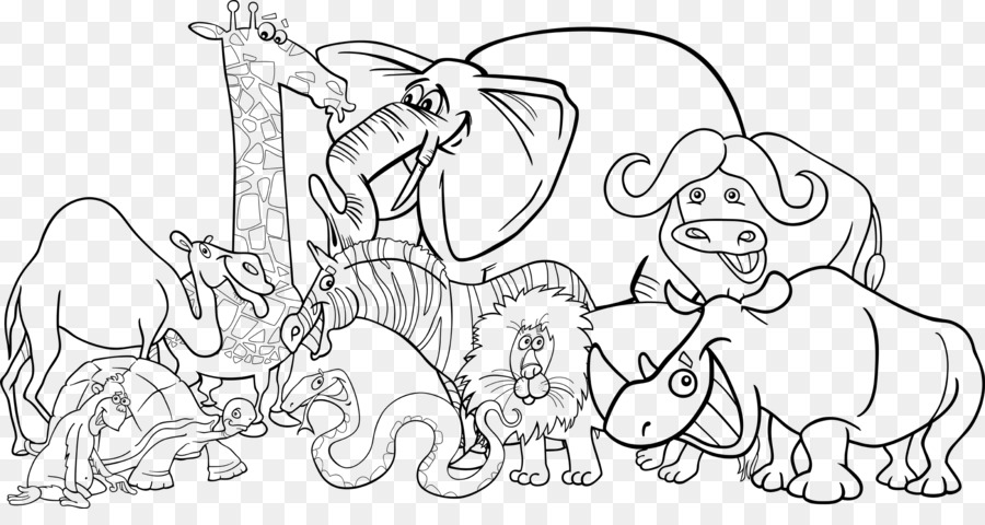 Black And White Png Zoo & Free Black And White Zoo.png Transparent.