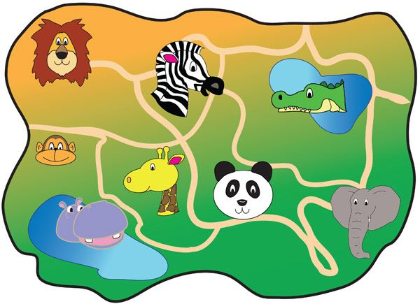Zoo MapA map of a fictional zoo ideal for early years.