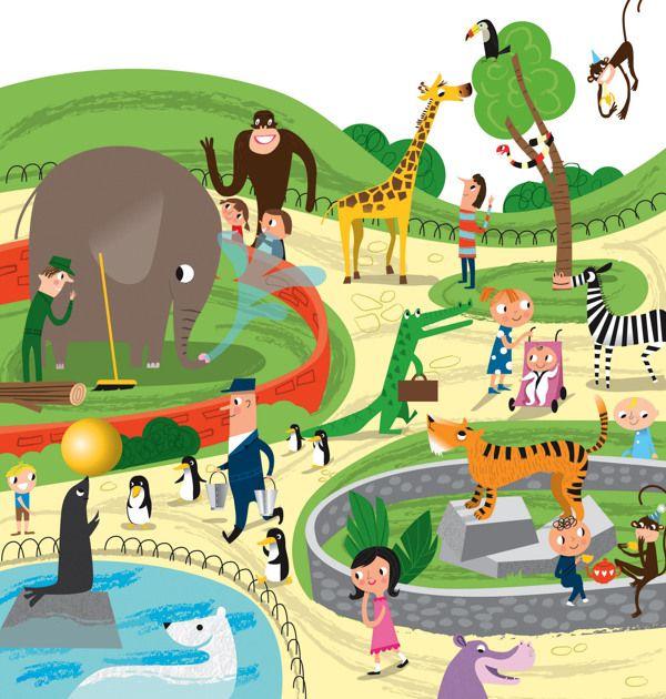 Zoo Drawing For Kids at GetDrawings.com.