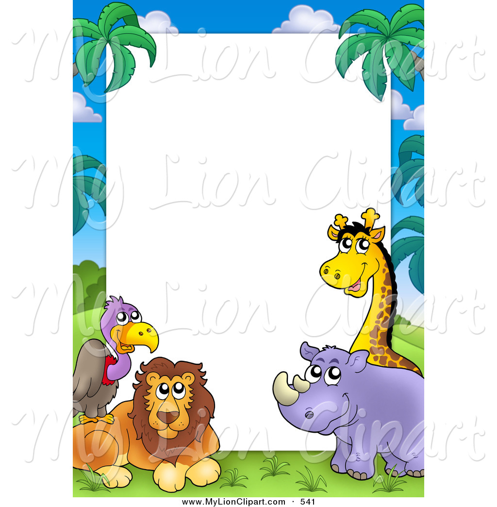 Animal clipart borderline, Animal borderline Transparent.