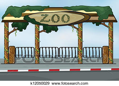 A zoo entrance Clip Art.