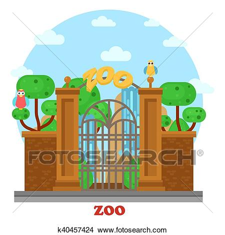 Zoo Entrance Clipart & Free Clip Art Images #23169.