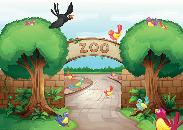 Best Zoo Entrance Illustrations, Royalty.