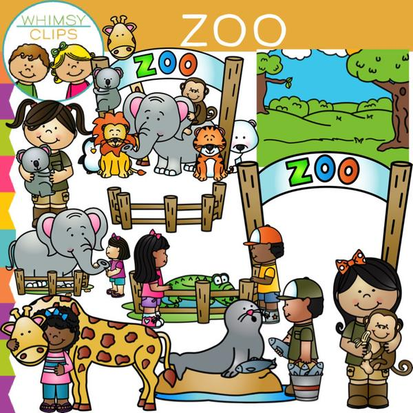 Kids Zoo Clip Art , Images & Illustrations.