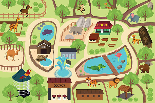 Zoo Clip Art, Vector Images & Illustrations.