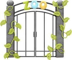 Image result for zoo gates cartoon.