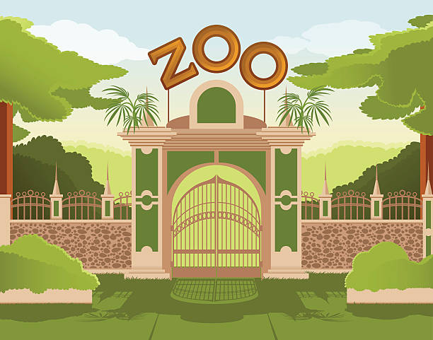 Best Zoo Gate Illustrations, Royalty.