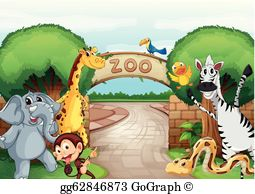 Zoo Animals Clip Art.