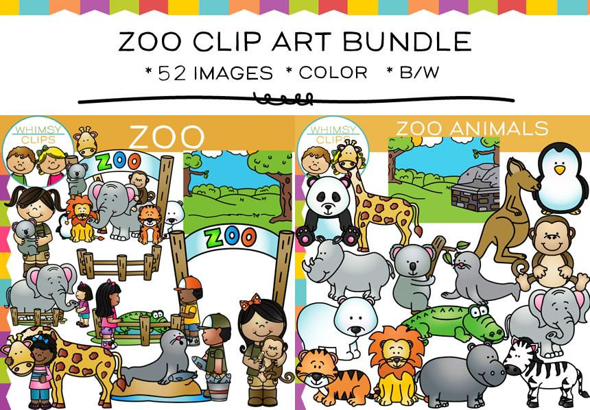 Fun Zoo Clip Art Bundle.