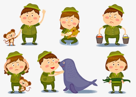 Free Zookeeper Clip Art with No Background.