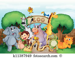Zoo Clip Art and Illustration. 49,665 zoo clipart vector EPS.