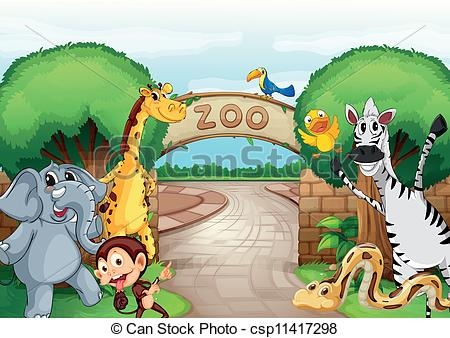 Zoo Road Clipart.