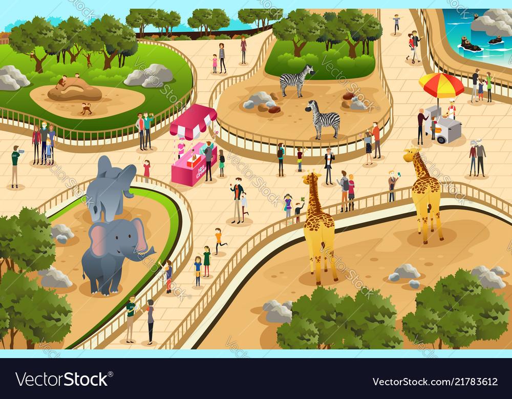 Scene in a zoo.