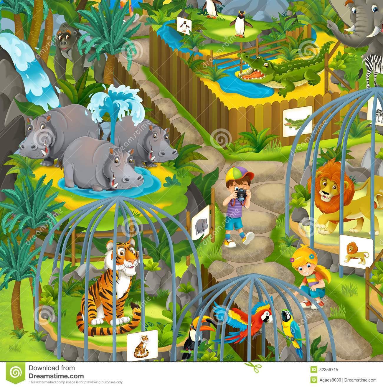 Zoo scene clipart 9 » Clipart Portal.