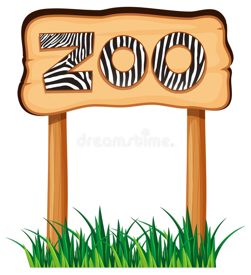 Sign Zoo Stock Illustrations.