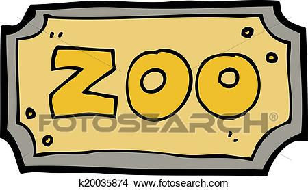 Cartoon zoo sign Clipart.