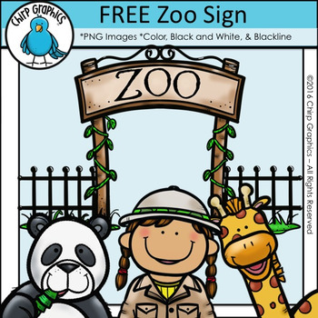 FREE Zoo Sign Clip Art.