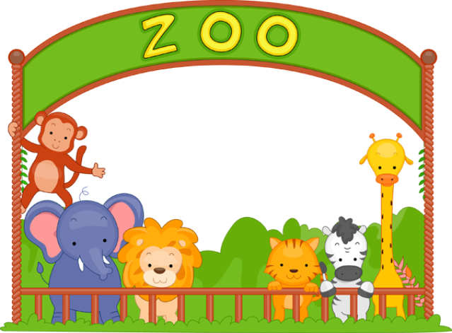 Wonderful clip art of animals that live in a zoo..