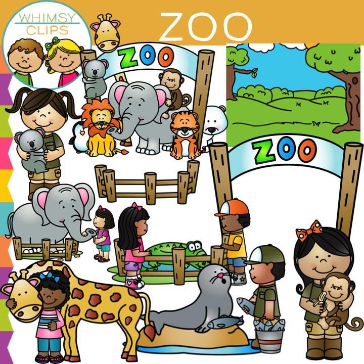 Kids Zoo Clip Art.