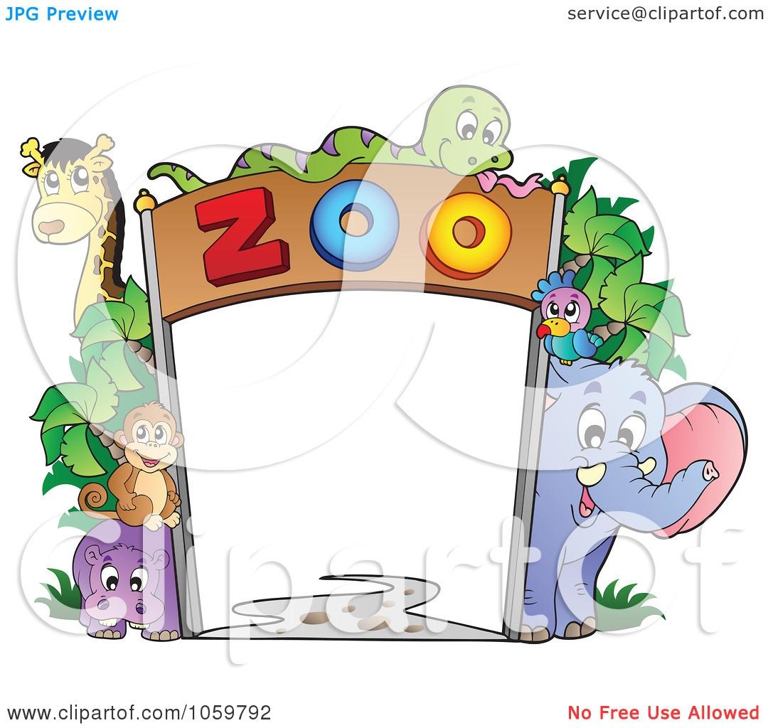 Zoo Wallpaper Clipart.