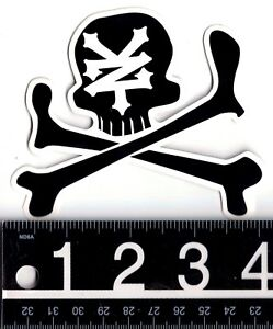 Details about ZOO YORK SKATE STICKER Zoo York Black Skull & Cross Bones 4  in. x 3.25 in Decal.