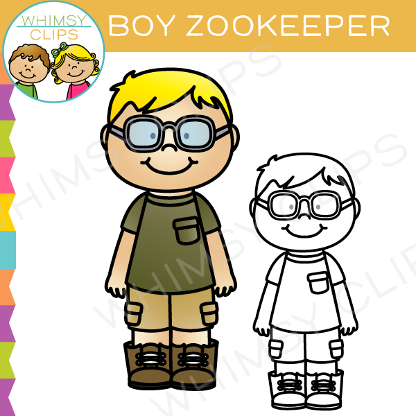 Boy Zookeeper Clip Art.
