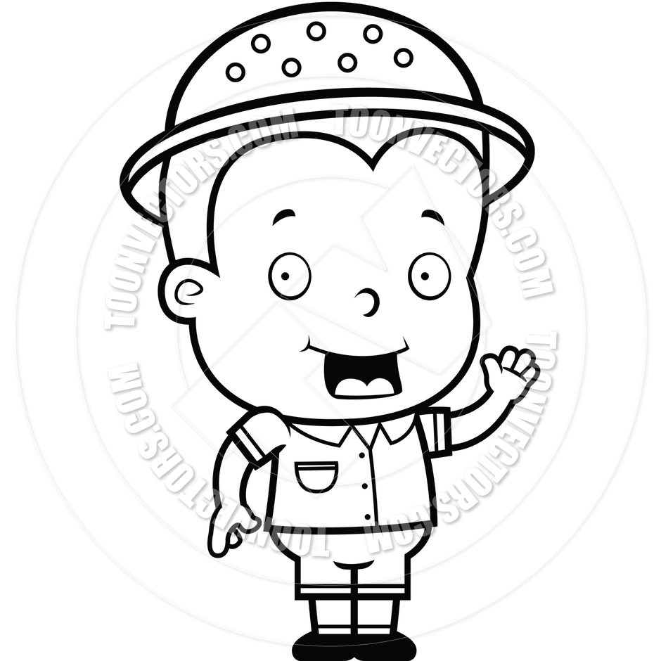 75 Boy Black And White free clipart.