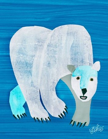 Eric Carle\'s Polar Bear Cover Wall Art.