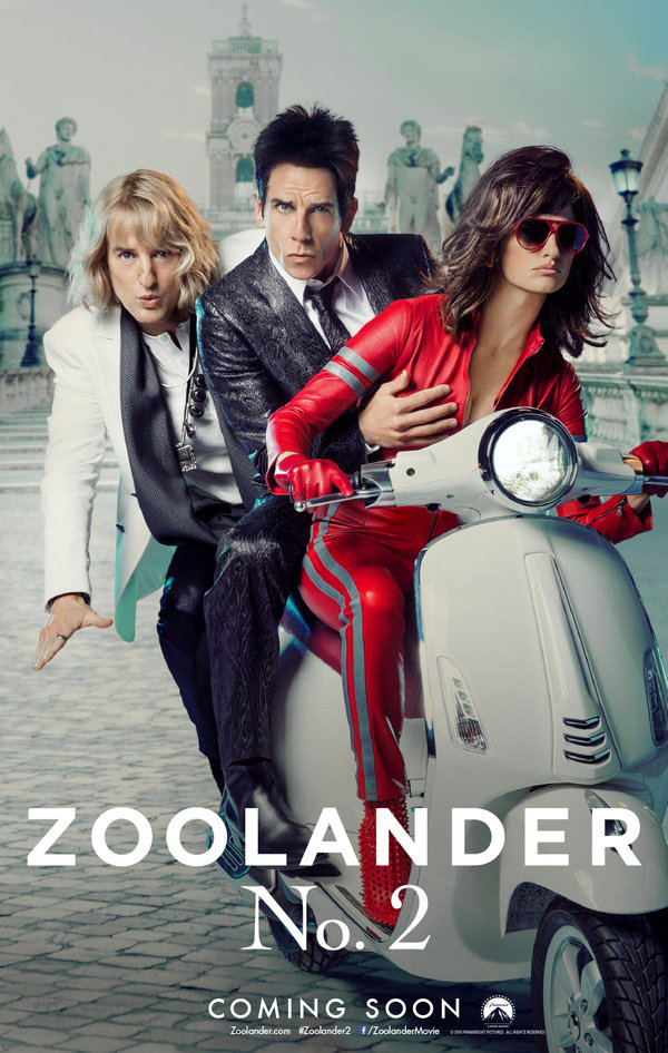 Zoolander 2 Trailer is Most Successful Comedy Trailer Launch.