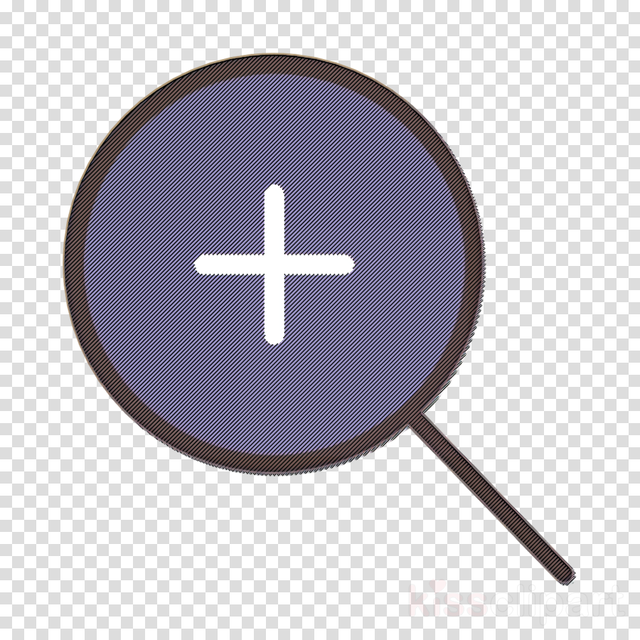 Essential icon Zoom in icon Magnifying glass icon clipart.