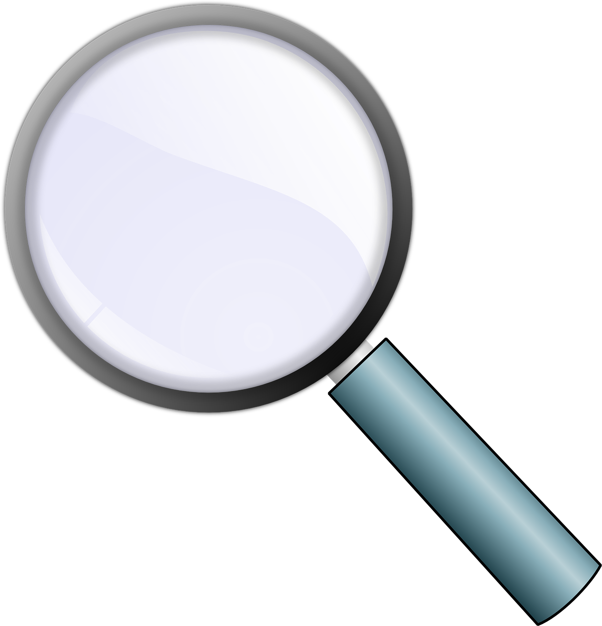 Glass Magnifying Zoom Lens PNG.
