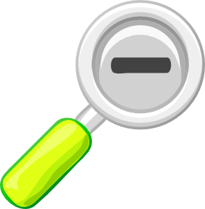 Zoom Out Lens Icon clip art Free Vector / 4Vector.