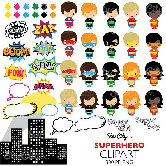 Superhero clipart, Super hero Clip Art, Superhero Graphics.