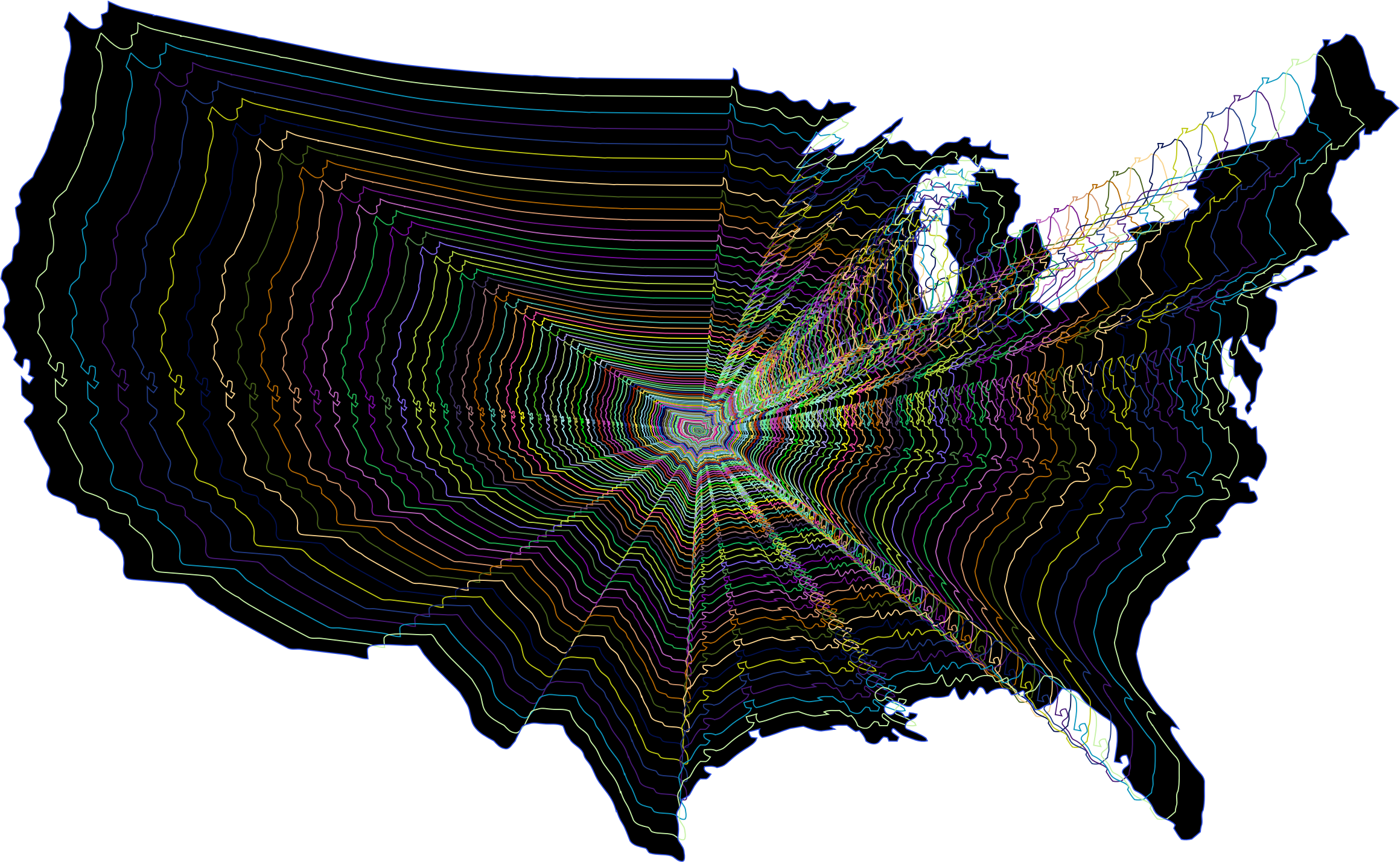 United states clipart outline, United states outline.