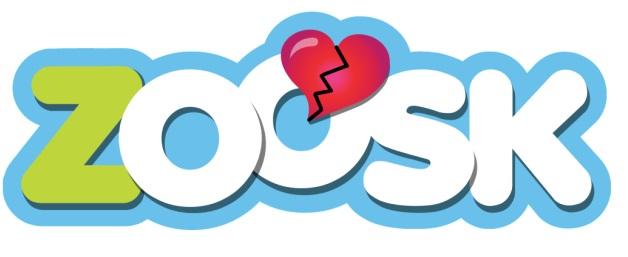 Zoosk logo with broken heart.