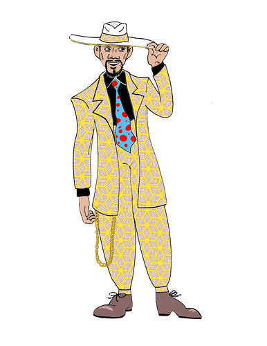 Zoot suit cartoon images.