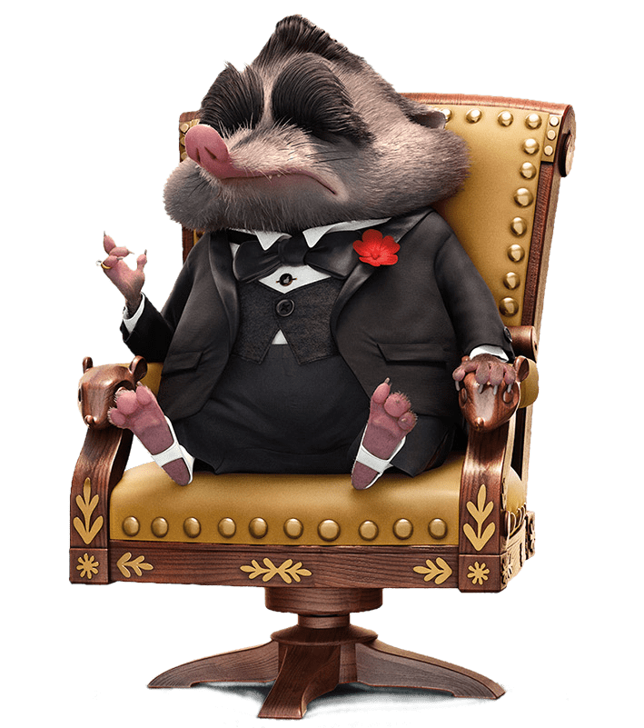 Zootopia Mr. Big In His Chair transparent PNG.