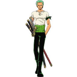 One Piece Roronoa Zoro Clipart.