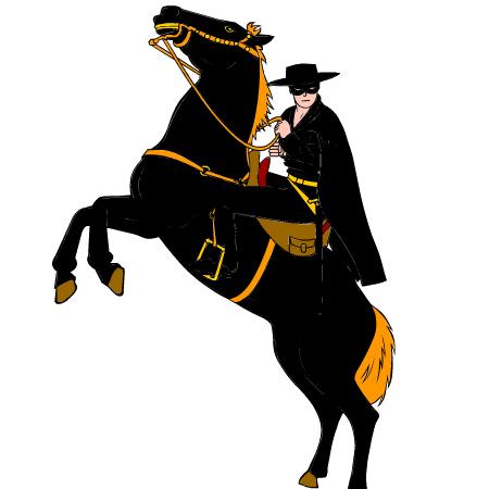 Zorro clipart.