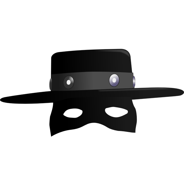 Zorro hat.