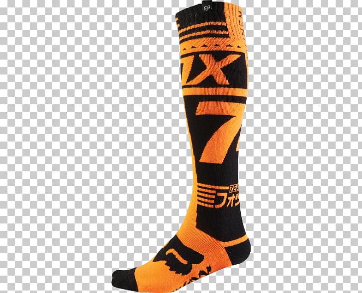 Zapatilla de calcetín fox racing ropa de moto, zorro en.