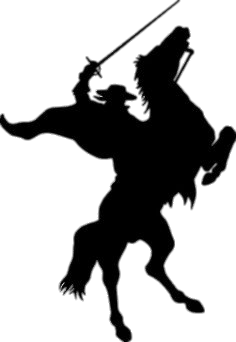 Zorro Silhouette transparent PNG.